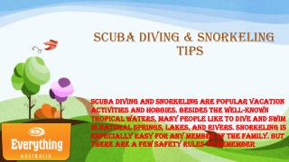 Scuba Diving & Snorkeling Tips