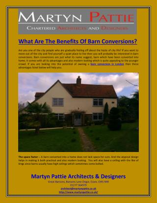What Are The Benefits Of Barn Conversions