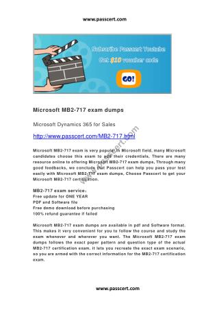 Microsoft MB2-717 exam dumps