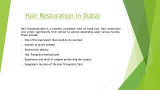 Hair Restoration in Dubai