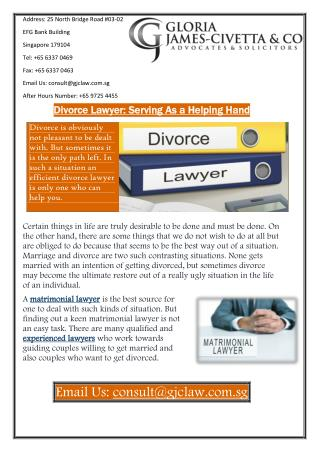 Divorce Lawyer: Serving As a Helping Hand