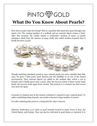 What Do You Know About Pearls?