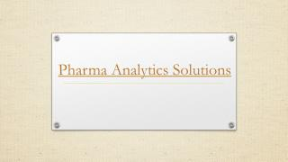 Advance Pharma Analytics Solutions – Bilytica
