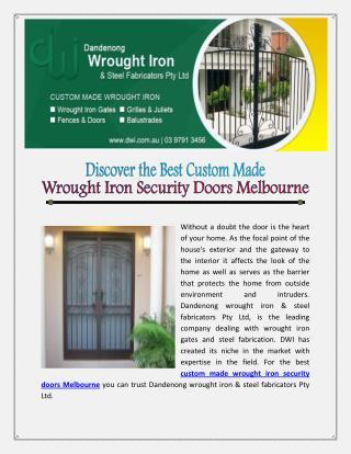 Wrought Iron Fences Hawthorn