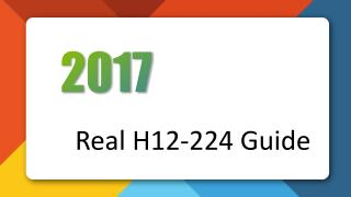 Killtest Huawei H12-224 Real Exam Questions
