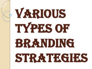 Various types of Branding Strategies in Marketing