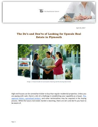 The Do's and Don'ts of Looking for Upscale Real Estate in Plymouth