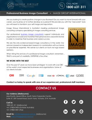 Professional Business Image Consultant - IMAGE GROUP INTERNATIONAL