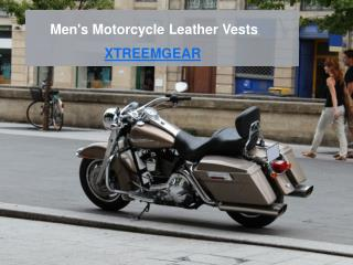 Men's Motorcycle Leather Vests
