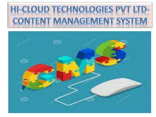 Hi Cloud Technologies  Better Company  For Developing  Website Content Management