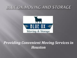 Houston Movers - Blue Ox Moving and Strorage