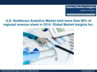 Healthcare Analytics Market to grow at 12 % CAGR from 2017 to 2024
