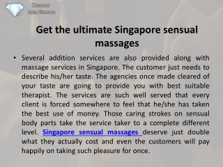Get the ultimate singapore sensual massages