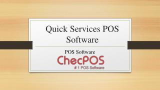 Quick Services POS Software