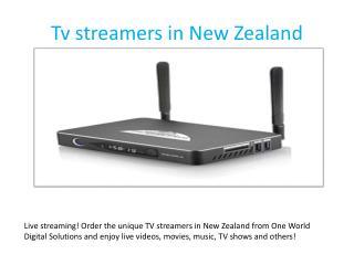 Tv streamers in New Zealand