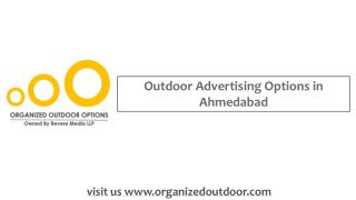 Outdoor Advertising Option in Ahmedabad