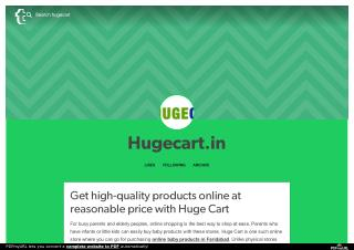 Get high-quality products online at reasonable price with Huge Cart