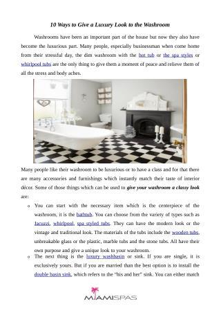 10 ways to a luxurious bathroom look | Miamispas