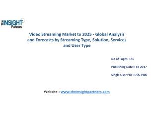 Video Streaming Market: Global Industry Perspective, Comprehensive Analysis and Forecast to 2025 |The Insight Partners