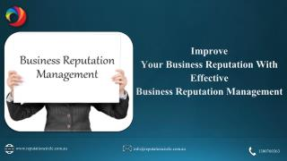 Improve your business Reputation with effective Business Reputation Management