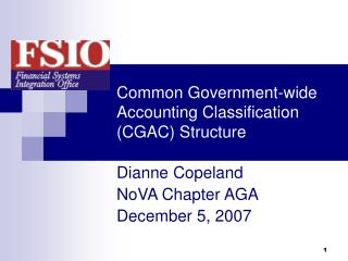 Common Government-wide Accounting Classification (CGAC) Structure