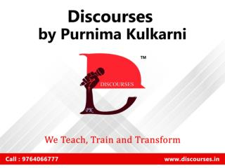 Best English Speaking Institute in Bibwewadi Pune - Discourses