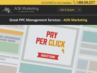 Great PPC Management Services - AOK Marketing