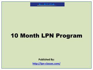 10 Month LPN Program