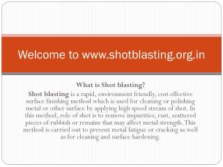 Shot Blasting Machine manufacturer in India