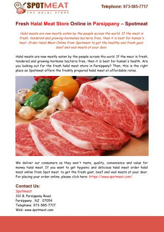 Fresh Halal Meat Store Online in Parsippany – Spotmeat
