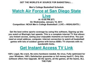 Air Force at San Diego State live | Men's College BB | NCAA