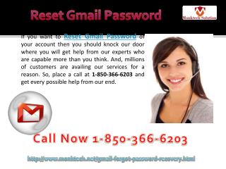 Do you want to Reset Gmail Password 1-850-366-6203 ?