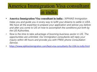 America Immigration Visa consultant in india