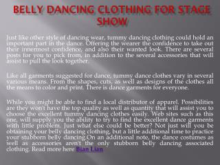 Belly Dancing Clothing for stage show