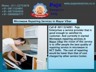 Microwave Repairing Services in Mayur Vihar