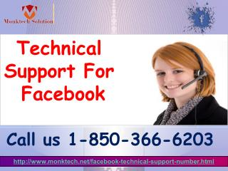 Why should I take Technical Support For Facebook 1-850-366-6203?