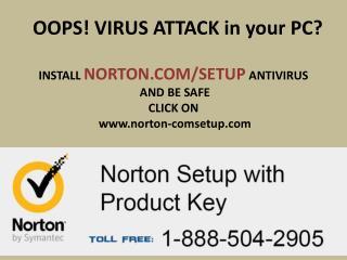 Norton.com/setup login help call @1-888-504-2905