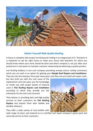 Flat Roofing Repairs