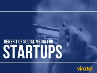 Benefit of Social Media for Start-Ups