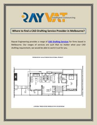 Where to find a CAD Drafting Service Provider in Melbourne?