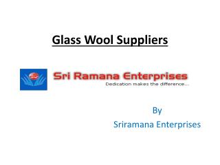Glass wool suppliers