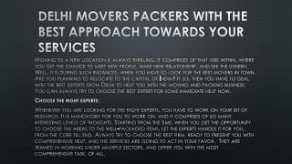 Looking Best Delhi Movers Packers