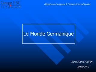 Département Langues & Cultures Internationales