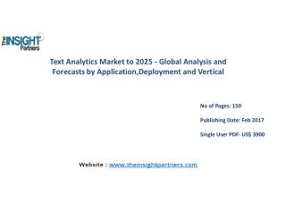Text Analytics Market with business strategies and analysis to 2025 |The Insight Partners