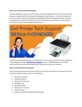 How to fix common issues with Dell printers