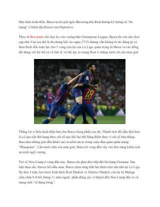 La Liga vòng 34: Real tự vứt bỏ vô số lợi thế