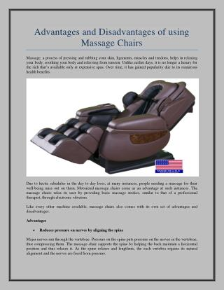 Benefits Of Massage Chair For Health : LURACO Technologies