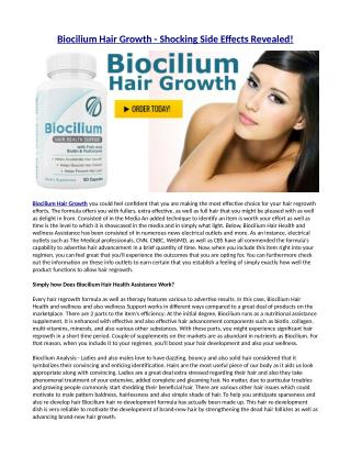 The Benefits of Biocilium Hair Health Support