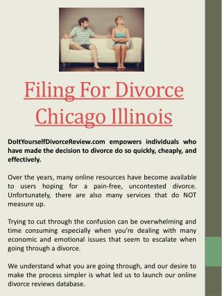 Printable Divorce Papers Chicago Illinois