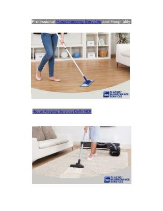 Professional Housekeeping Services in Delhi-NCR